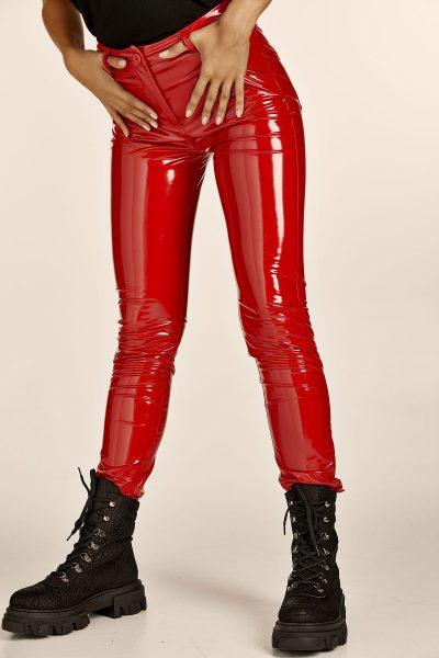 Vinyl Pants – Red