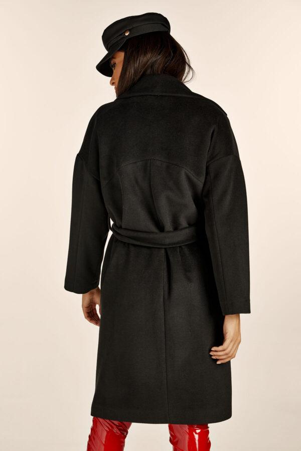 Belted Black Coat