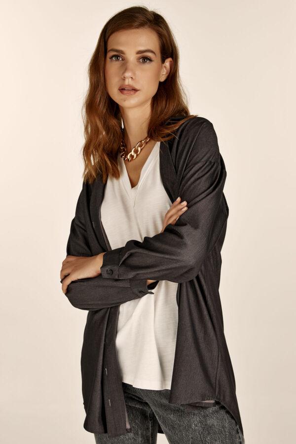 Grey Light Denim Shirt