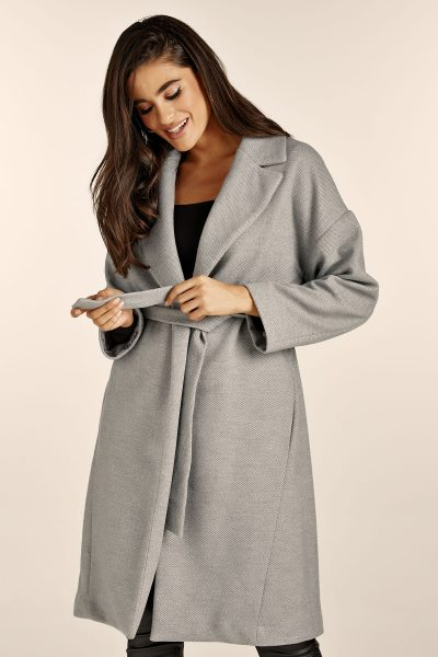 Belted Grey Coat