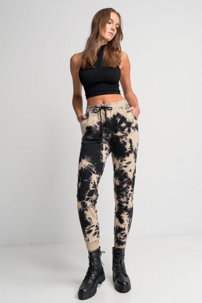 Tie Dye Jogger Pants – Black