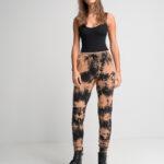 Tie Dye Jogger Pants – Beige