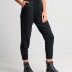 Soft Knit Jogger Pants – Black