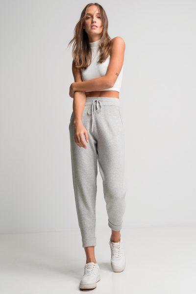 Soft Knit Jogger Pants – Light Grey