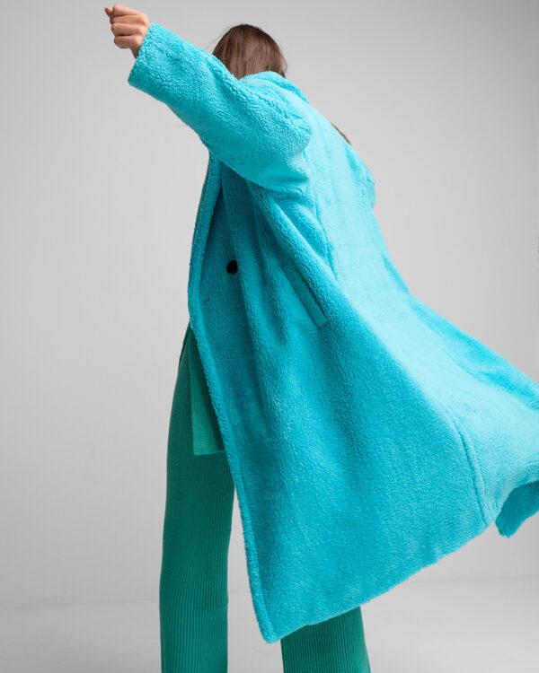 Teddy Coat – Turquoise