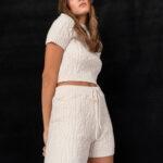 Braided Loungewear Set – Cream