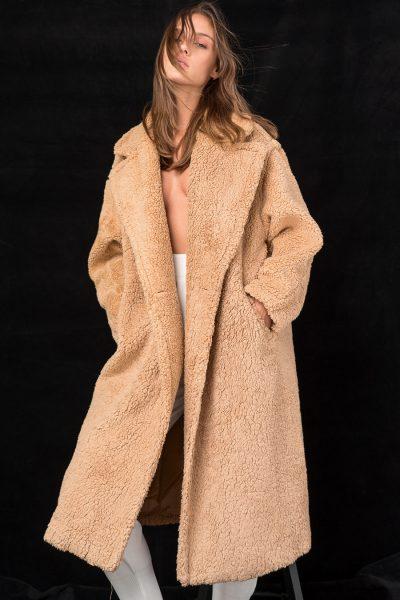 Teddy Coat – Camel