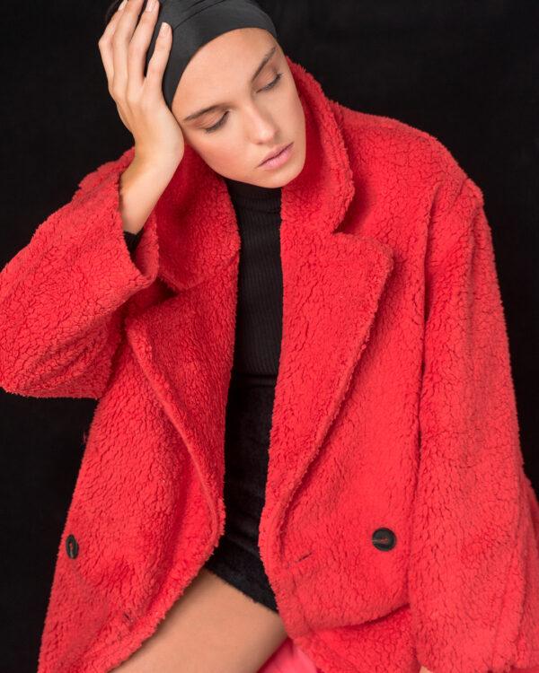 Teddy Coat – Coral