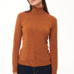 Turtleneck Knit Top – Cinammon