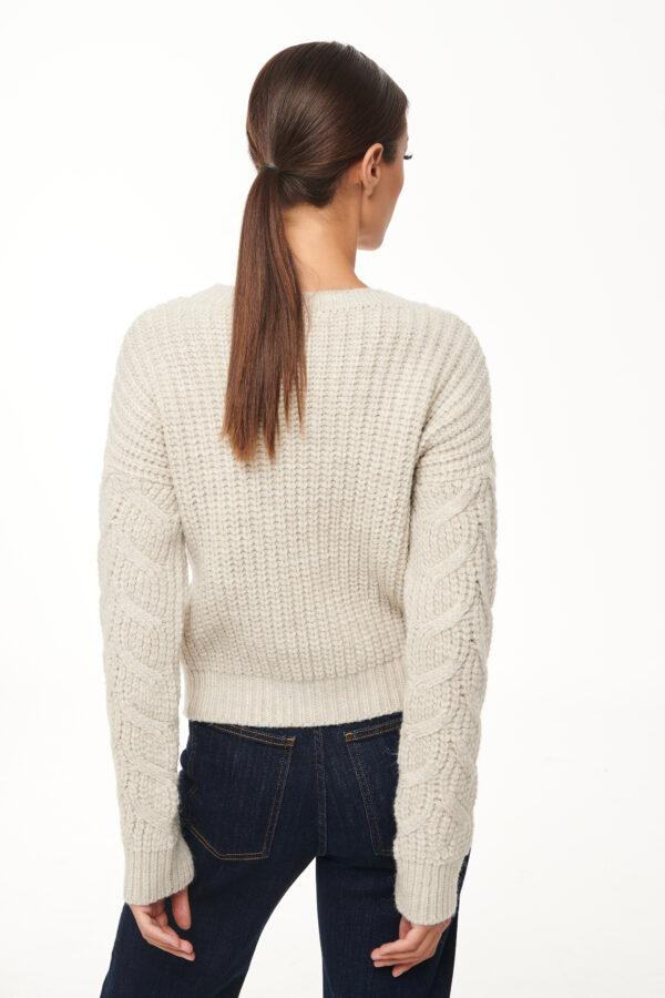 Braided College Sweater