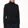 Turtleneck Sweater – Black – White