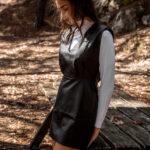 Mini Padded Leather Dress