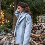 Light Coat – Baby Blue – Black