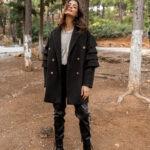 Ruffled Oversized Coat