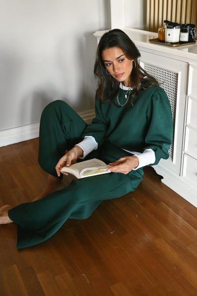 KIMBERLY green straight leg sweatpants