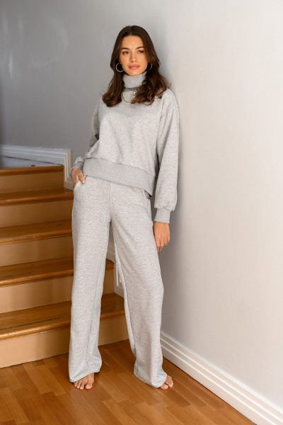 KIMBERLY grey straight leg sweatpants