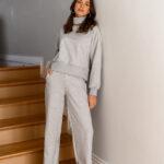 CARLA grey turtleneck sweatshirt