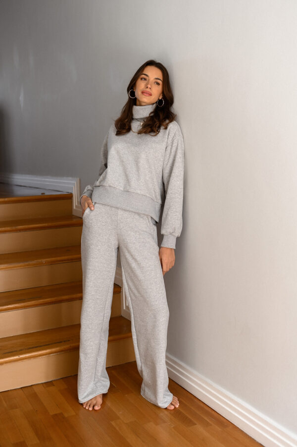 KIMBERLY grey straight leg sweatpants