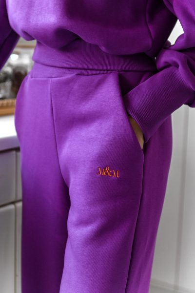KIMBERLY purple straight leg sweatpants