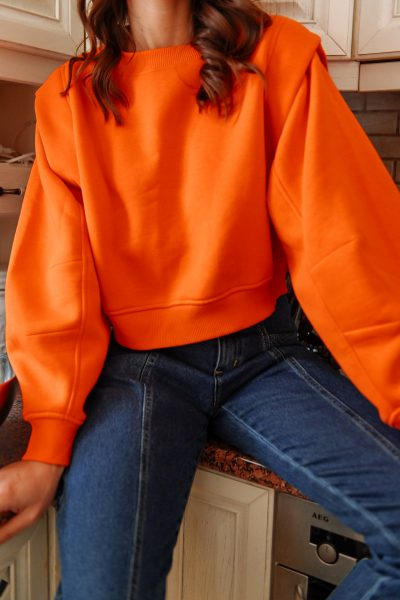 Space Sweater – Peach – Red