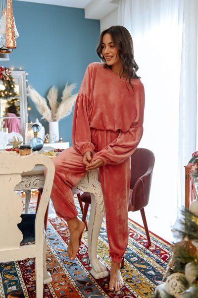 Velvet Loungewear – Dusty Pink