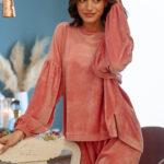 Velvet Loungewear – Dusty Pink