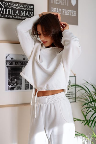 Butterfly Sweater Set – White