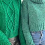 Crop Knit – Green – Baby Blue – White