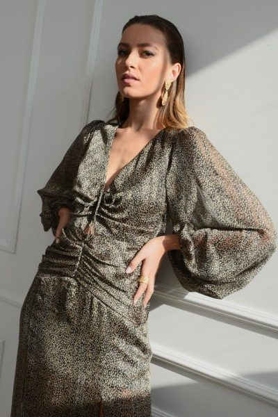 Corinne Animal Print Dress