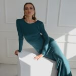 Amanda Dark Green Dress