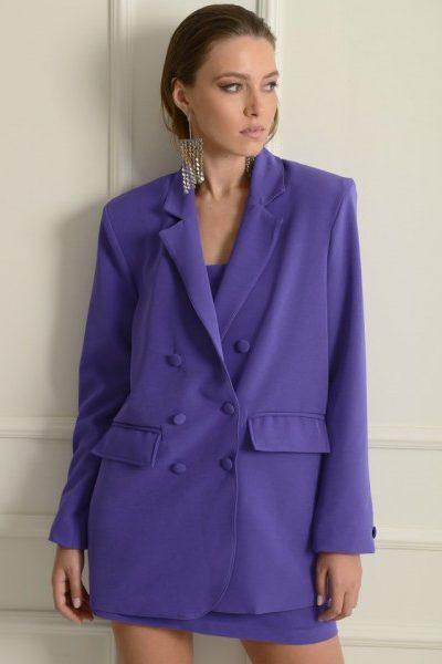 Aundrey Purple Blazer