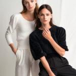Soft Padded Shoulders Knit – Black