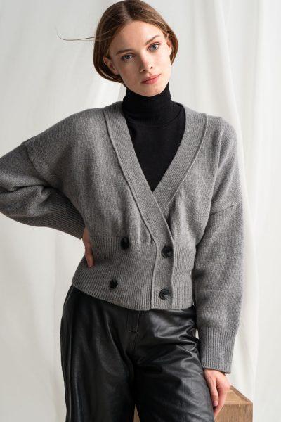 Short Cardigan – Grey