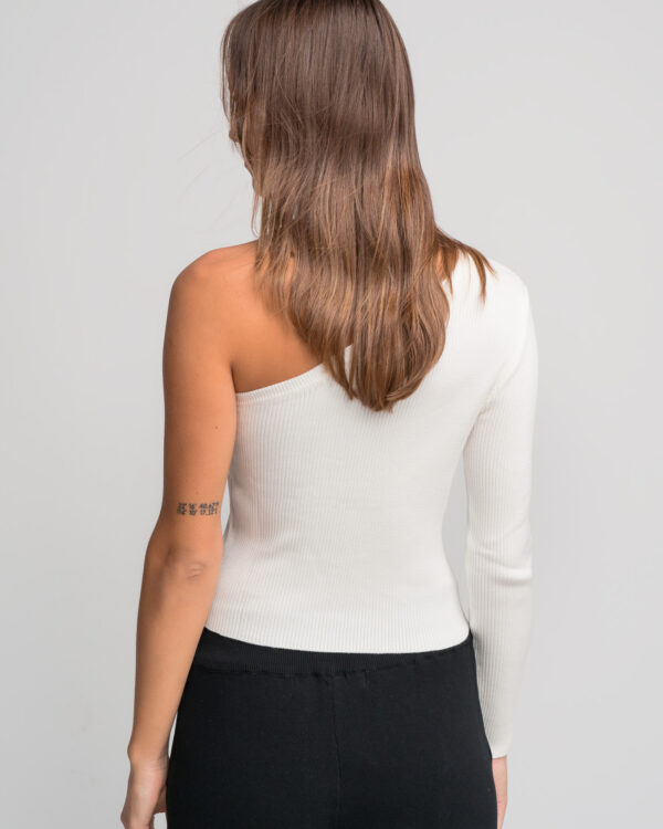 One Shoulder Rib Top