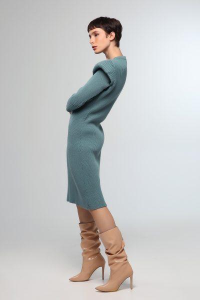 80's Midi Knitted Dress – Indigo
