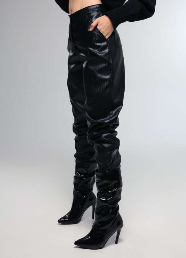 Croco Leather Pants