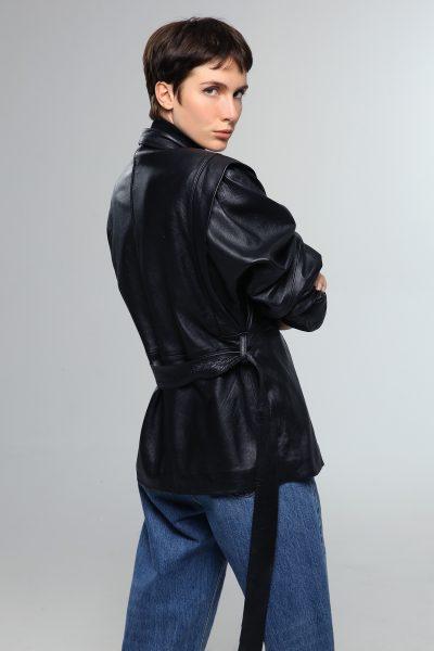 80's Leather Jacket – Black
