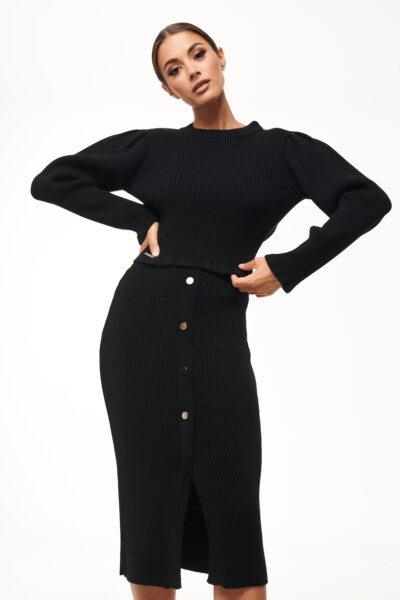 Backless Knit Set