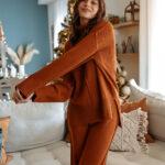 Rust Knit Set