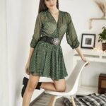 Green Chains Mini Dress