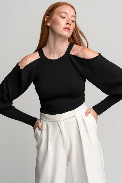 Off Shoulder Top – Black