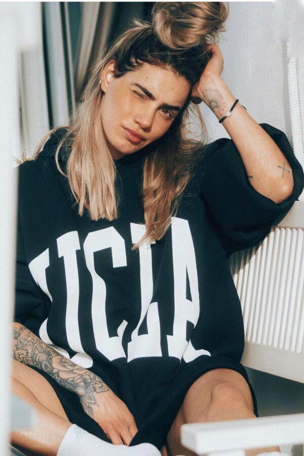 UCLA Oversized Sweater – Black
