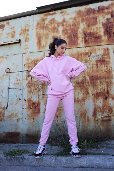 Oversized Hoodie – Pink