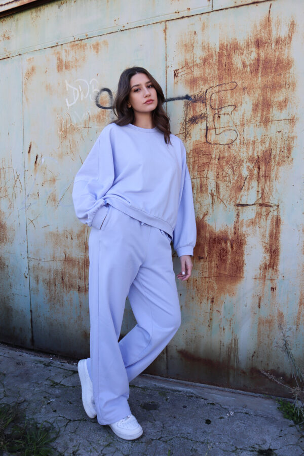 Sweater Loose Pants – Lilac