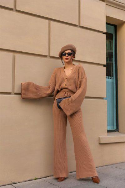 Sarah Knit Set – Beige