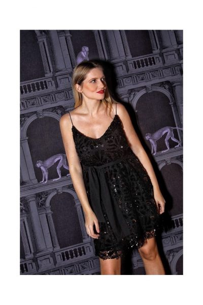 A-line Sequin Dress