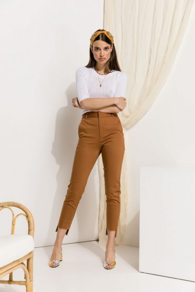 Tobacco Highwaist Cigarette Pants