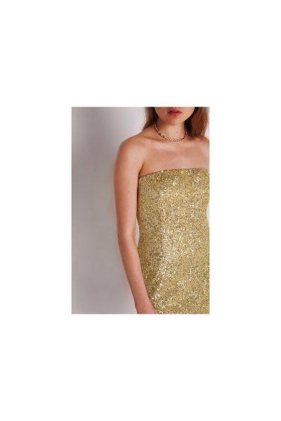 Mini Strapless Sequin Dress