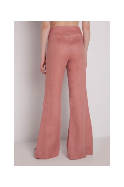 French Rose Linen Pants